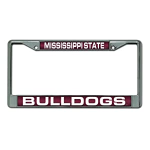 NCAA Mississippi State Bulldogs Laser Cut Chrome Plate Frame