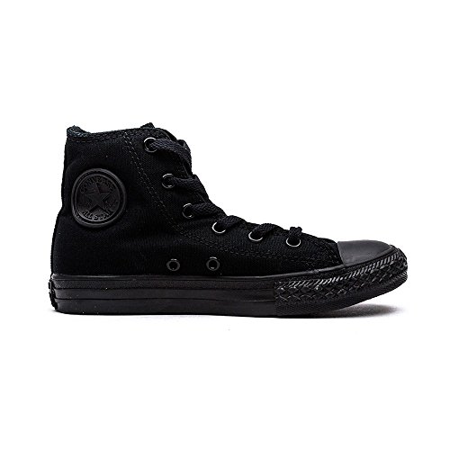 Converse Shoes - Converse Chuck Taylor All Star Youth Classic Hi Canvas Trainers - Black Monochrome