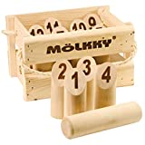 Tactic Games UK 40268 Molkky-Wooden Pin & Skittles Outdoor Fun-for Beach-Park-Picnic-Playground-Classic Family Garden Game from Tactic