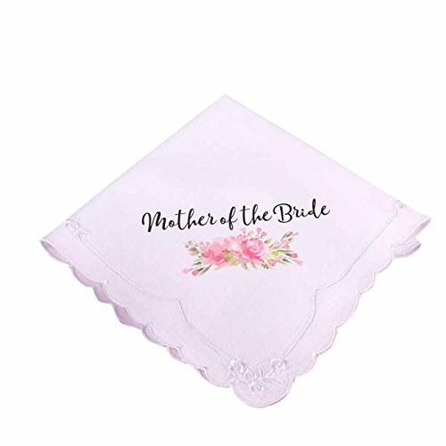 - Lillian Rose AZ270002 MB Pink Mother of the Bride Hankie, White