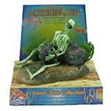 Pen Plax 085 Action Air Pirate Skeleton with Jug & Treasure Chest Live-Action Aerating Aquarium Ornament