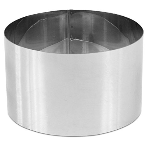 DeBuyer High Stainless Steel Pastry Ring -7.9-in Diam x 4.7-in H