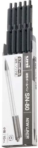 Mitsubishi Pencil ballpoint pen New liner SN-80 10P black 10-pack From Japan
