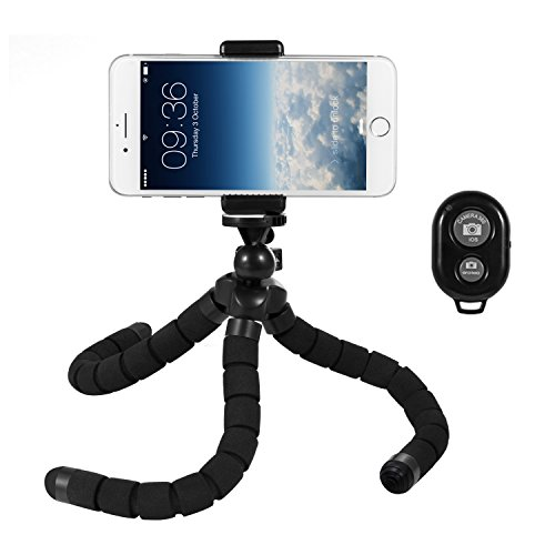 Cine Stand (Deyard Flexible Octopus Tripod Stand for iPhone 8 Plus, iPhone X, iPhone 6s 6 Plus 7 Plus, Phone, GoPro Fusion Hero 5 Session 6 / 5 / 4 / 3+ /3 / Original Gopro Camera Xiaomi Yi Action camera)