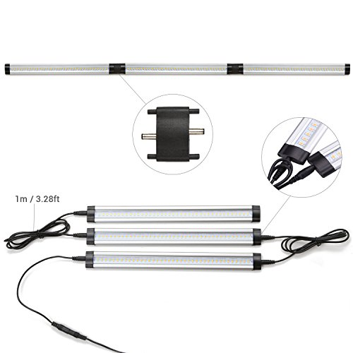 Dimmable Under Cabinet Lighting, 3 Panel Deluxe Kit, Total of 12W ...