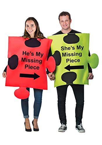 Tigerdoe Puzzle Piece Costume - Couple Costumes - Funny Adult Costumes - Novelty Costumes