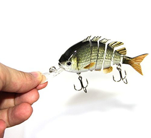 Discover-f New Multi Jointed Jointed Fishing Lures Life-like Hard Lures Bass Bait Swimbait Minnow Crank Shad Herring Bass Pike Muskie(1pcs)
