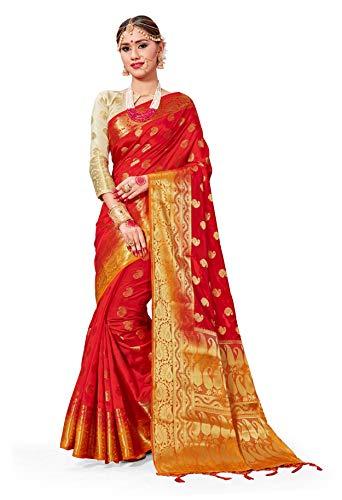 arasi Art Silk Woven Saree l Indian Wedding Gift Sari with Unstitched Blouse ()