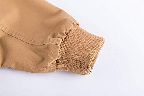 Vintage Tessuto Esterno Bomber Per B Il Ntel khaki In Classico Libero Tempo Giacca Da Uomo Cotone Autunno xqpwzp