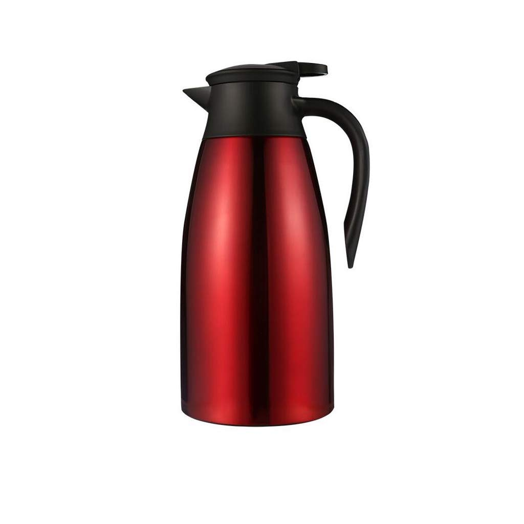 Insulated Vacuum Jug Double Walled Unbreakable Thermal Carafe Water Pitcher with Lid Handle (Size : Red)