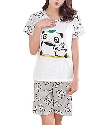 LLP Teens Girls Cute Panda Pajamas Summer Set Junior Sleepwear(8y-14y)