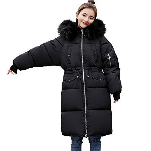 Larga Abrigo Negro Impermeable Para Capucha Ujunaor Manga Mujer 0UwqI