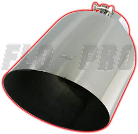 EXHAUST TIP 5 X 7 X 15 ANGLE CUT BOLT-ON SS - Bolt On Exhaust