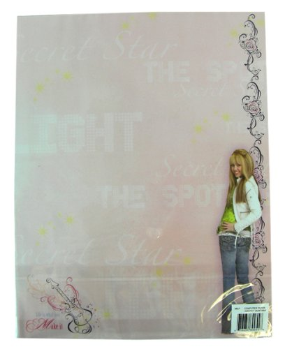 (Disney Hannah Montana stationery paper - useful watermarked stationary supply...)