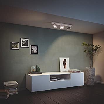 color gris Foco LED 1 x 7.5 W Philips Metrys 220 V