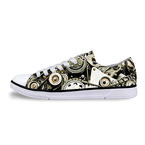Comfortable U Casual Lace Stylish Sneaker Canvas up DESIGNS FOR Top Silver B Low Fashion Men's zw4qnpzd