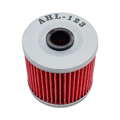 AHL 123 Oil Filter for Kawasaki KLF300 Bayou 4X4 300 1989-2004 / KLF220 Bayou 215 1988-2001 / KLF300 Bayou 4X4 300 1989-2004 / KEF300 Lakota 300 1995-2003 / KLT250 250 1982-1985: Automotive