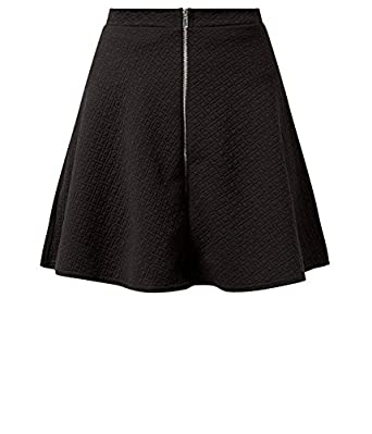 Womens Black Jersey Jacquard Skater Skirt  Amazon.co.uk  Clothing 5b7ea439f