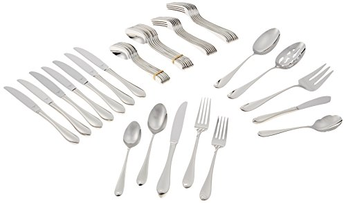 Lenox Gorham Studio Stainless 45 Piece Set-service for 8 & 5 Serving Pieces by Lenox