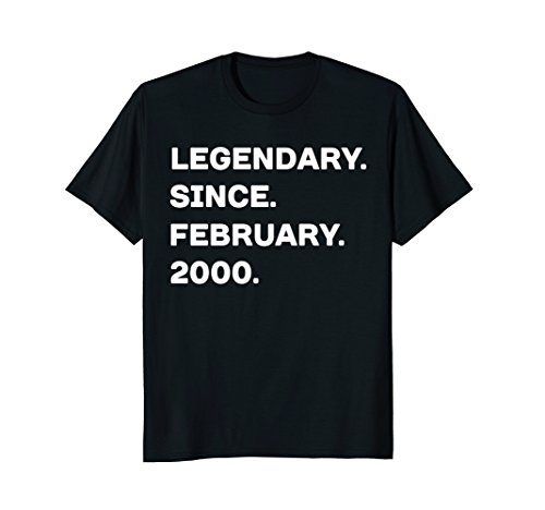 Legendary Since February 2000 18th Years Old Birthday - Gift Best Card Men For