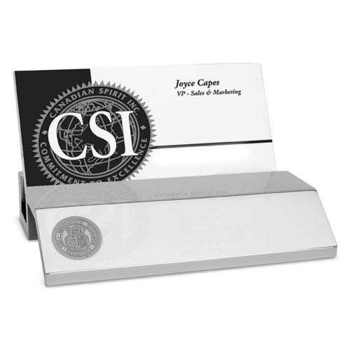 Missouri Tigers Business Card Holder - CSI Cannon Sports Missouri Tigers Silver Business Card Holder