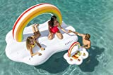 FUNBOY Rainbow Cloud Daybed and Rainbow Cloud Drink Cooler Bundle