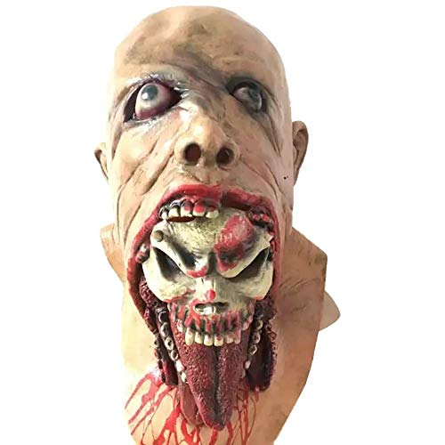 Halloween Cosplay Horror Bloody Zombie Mask Melting Face Adult Latex Costume Walking Dead Halloween Scary Head Mask -