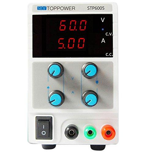 DC Power Supply 60V 5A 110V/220V Switchable Digital Adjustable Regulated Stabilizer Variable Lab Precision
