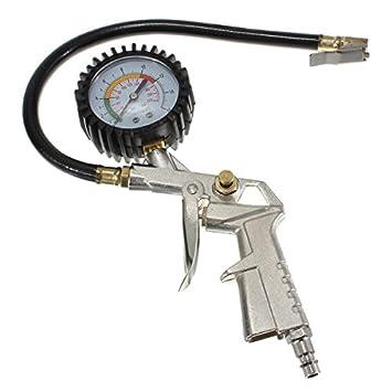 Alamor Neumático inflador dial presión manómetro compresor de aire para coche motocicleta camión moto: Amazon.es: Hogar