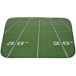 "Gear New Twenty And Thirty Yard Line On American Football Field Bath Mat Rug, Microfiber Memory Foam with no skid back, 24""x17"" GN21660"