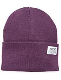 Men's Puncho Knitted Beanie, Plum Perfect