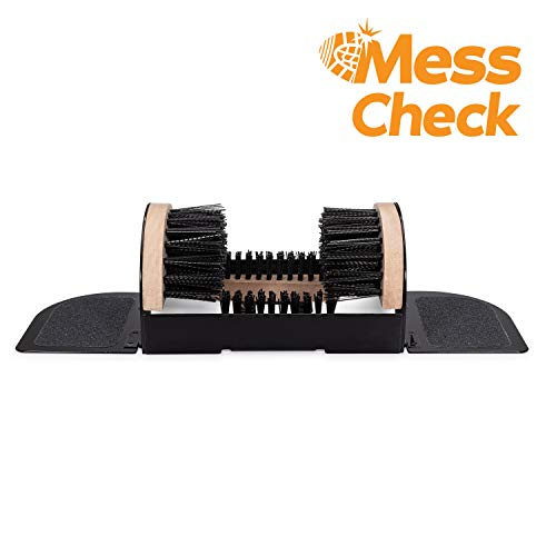 (MessCheck Sturdy Boot Scraper, Cleans Dirty or Wet Shoes from Hiking, Hunting, Snow, and Mud with Two Standing Flaps)