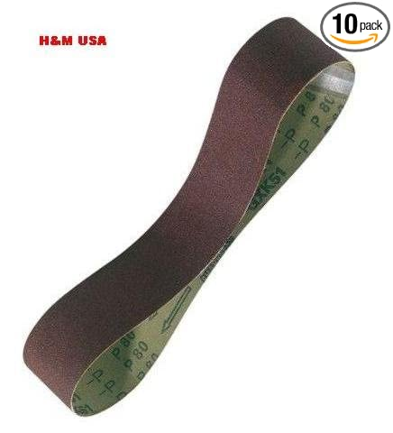 "10 Pack Abrasive Sanding Belts 2-in x 72/"" 180 Grit Aluminum Oxide"