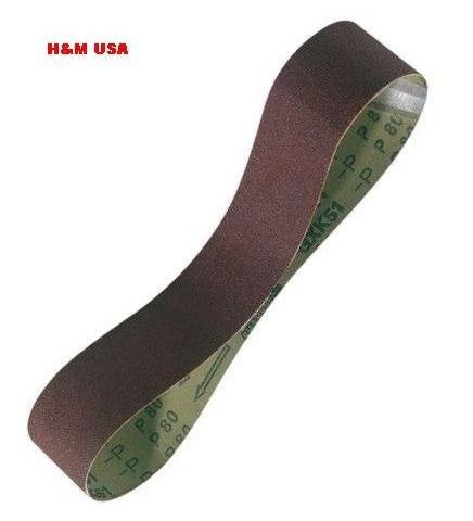 """Premium Abrasive Sanding Belts 2 """"x 72"""" Aluminum Oxide 80 grit - 10PCS PACK"""