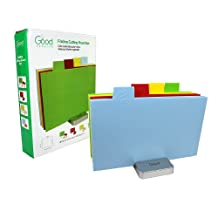 Cutting Board Set- Index Folding Colored Coded Chopping Board Set by Good Cooking (Rectangular)
