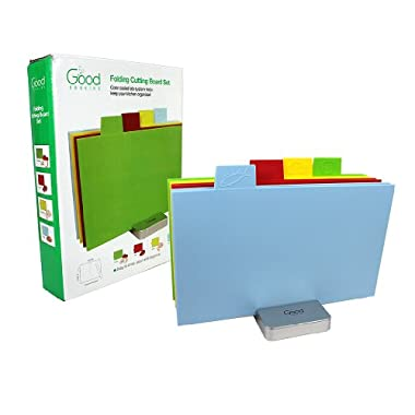 Cutting Board Set- Index Folding Color Coded XL Sized Chopping Board Set by Good Cooking (Rectangular XL- 15.5  x 11.5 )