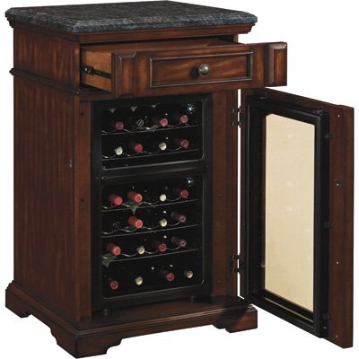 Amazon.com: Amalfi Madison Wine Cabinet Cooler Refrigerator In Rose Cherry  With Granite Top: Appliances