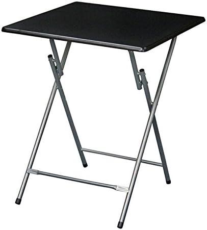 eHemco Extra Large Metal Folding TV Tray Table – Black Top