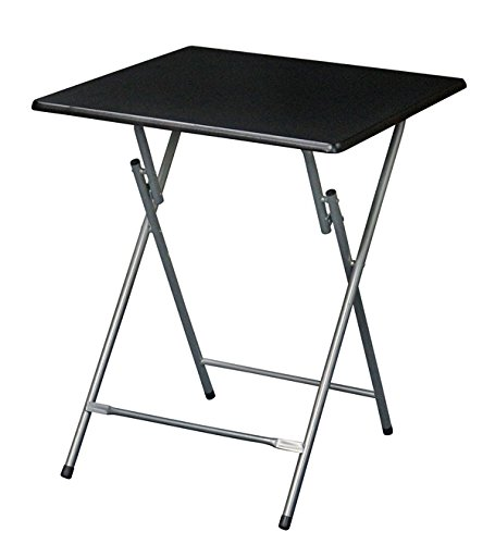eHemco Extra Large Metal Folding TV Tray Table – Black Top