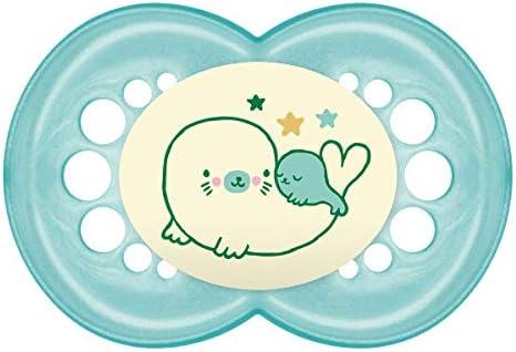 MAM Original Night 16+ (2 unidades), Chupetes luminosos brillantes en la oscuridad, chupete ortodóntico de silicona, chupete nocturno autoesterilizable, 16+ meses, verde: Amazon.es: Bebé