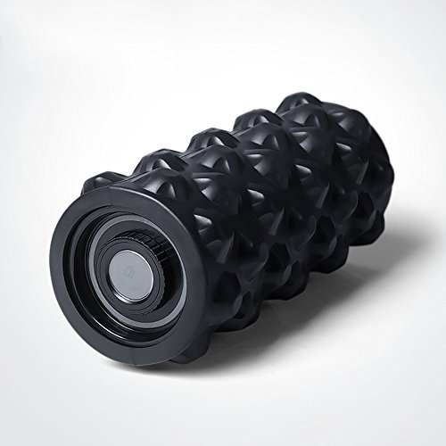 Vibrating Foam Massage Roller 4 Speed High Intensity Rechargeable 12.6 Inch Exercise Muscle Roller