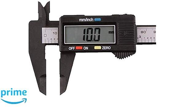Movilideas Calibre Digital Pie de Rey 150mm,Calibrador electr/ónico de acero inoxidable,Gran Pantalla LCD,Micr/ómetro de alta precisi/ón,Medida de Di/ámetro Interior,Exterior,Profundidad