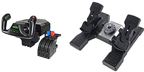 Yoke System and Rudder Pedals Logitech G Saitek PRO Flight Bundle