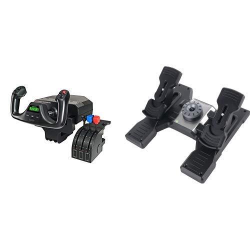 Saitek PRO Flight Bundle - Yoke System and Rudder Pedals