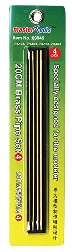 Trumpeter Tools - 20cm Brass Pipe Set 4 - 1.1, 1.6, 2.1, 2.6