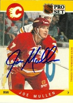 Autograph Warehouse 55897 Joe Mullen Autographed Hockey C...