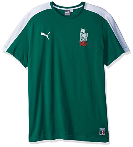 PUMA Men's Forever Football T7 Tshirt, Power Green//Mexico, - Green T-shirt Forever
