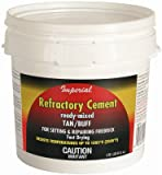 Imperial Mfg Group Usa KK0307 Sodium Silicate Firebrick Refractory Cement, 64-oz. - Quantity 6