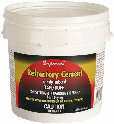 Imperial Mfg Group Usa KK0307 Sodium Silicate Firebrick Refractory Cement, 64-oz. - Quantity 6 by Imperial Mfg Group Usa