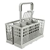 Universal Dishwasher Cutlery Basket (9.5'' x 5.4''x 4.8'') fits Kenmore, Whirlpool, Bosch, Maytag, KitchenAid, Maytag, Samsung, GE, and more